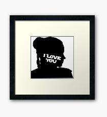 Princess Leia I LOVE YOU to Han Solo Star Wars Framed Print