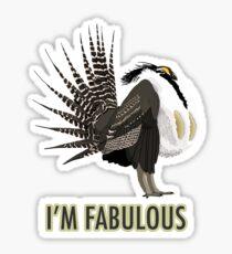 Fabulous Gunnison Sage-Grouse Sticker