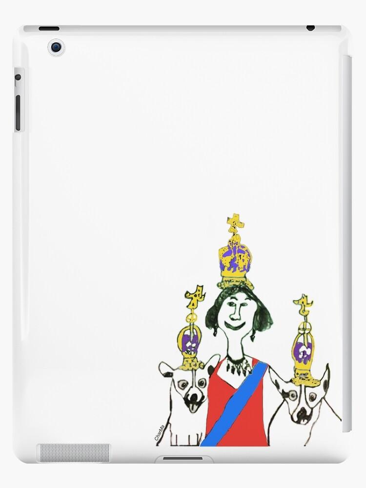 Hm Queen Elizabeth Ii Of England And Her Corgi Dogs Ipad Cases