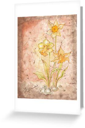 The Grunge Daffodils by AngelArtiste