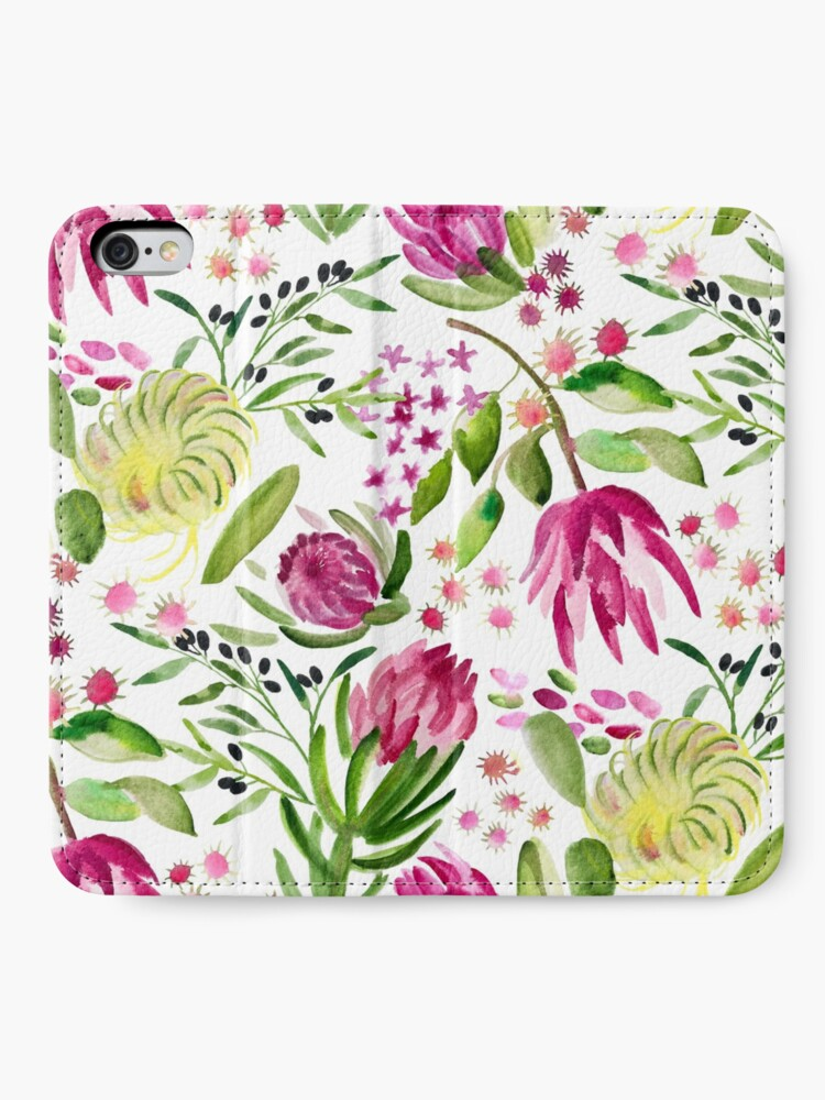 Alternate view of Protea Bloom Floral iPhone Wallet