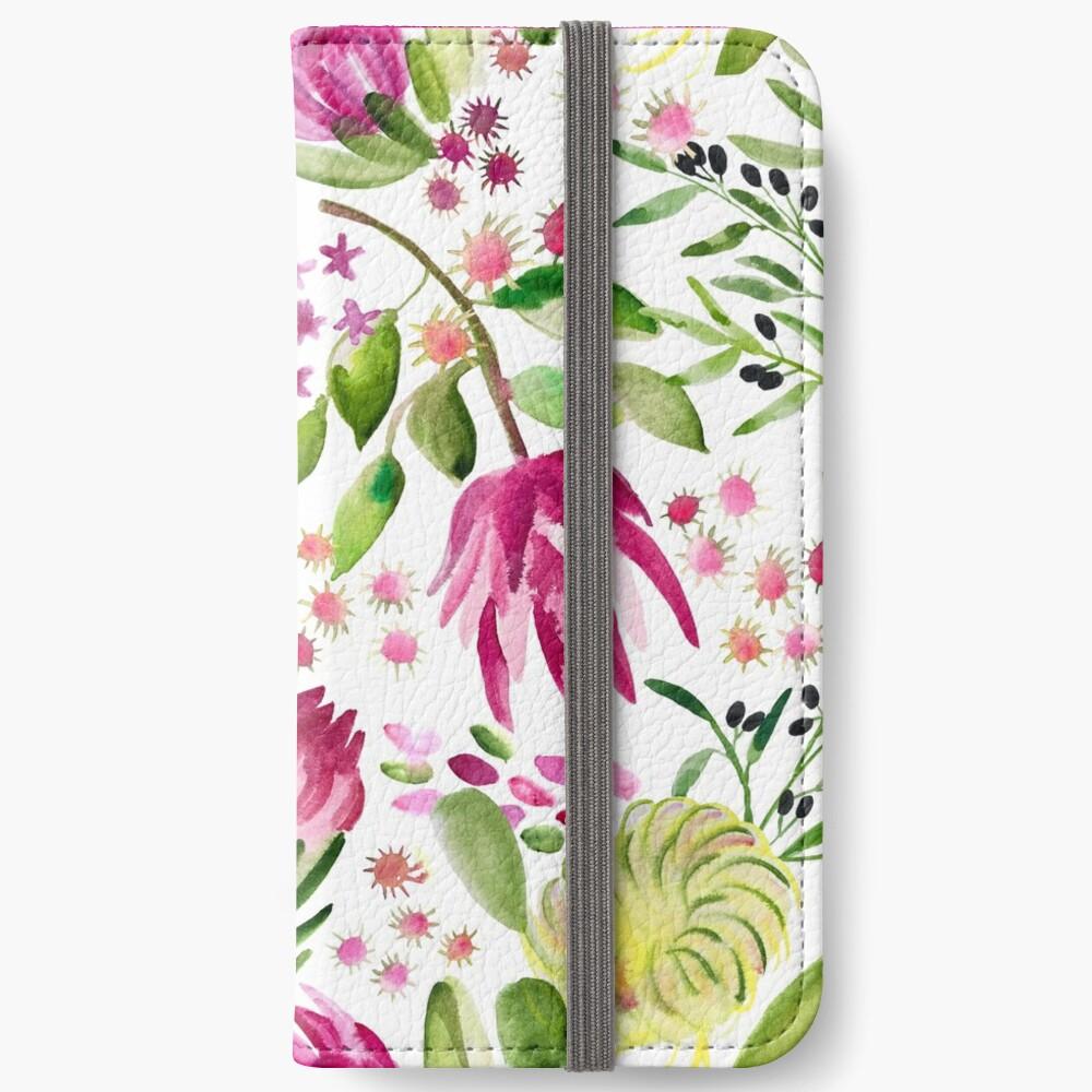 Protea Bloom Floral iPhone Wallet