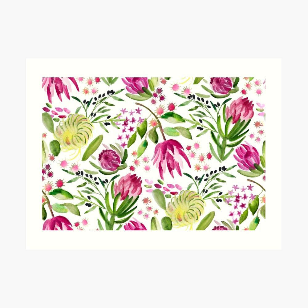 Protea Bloom Floral Art Print
