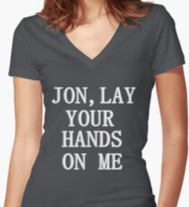 Lay your hands on me Women's Fitted V-Neck T-Shirt