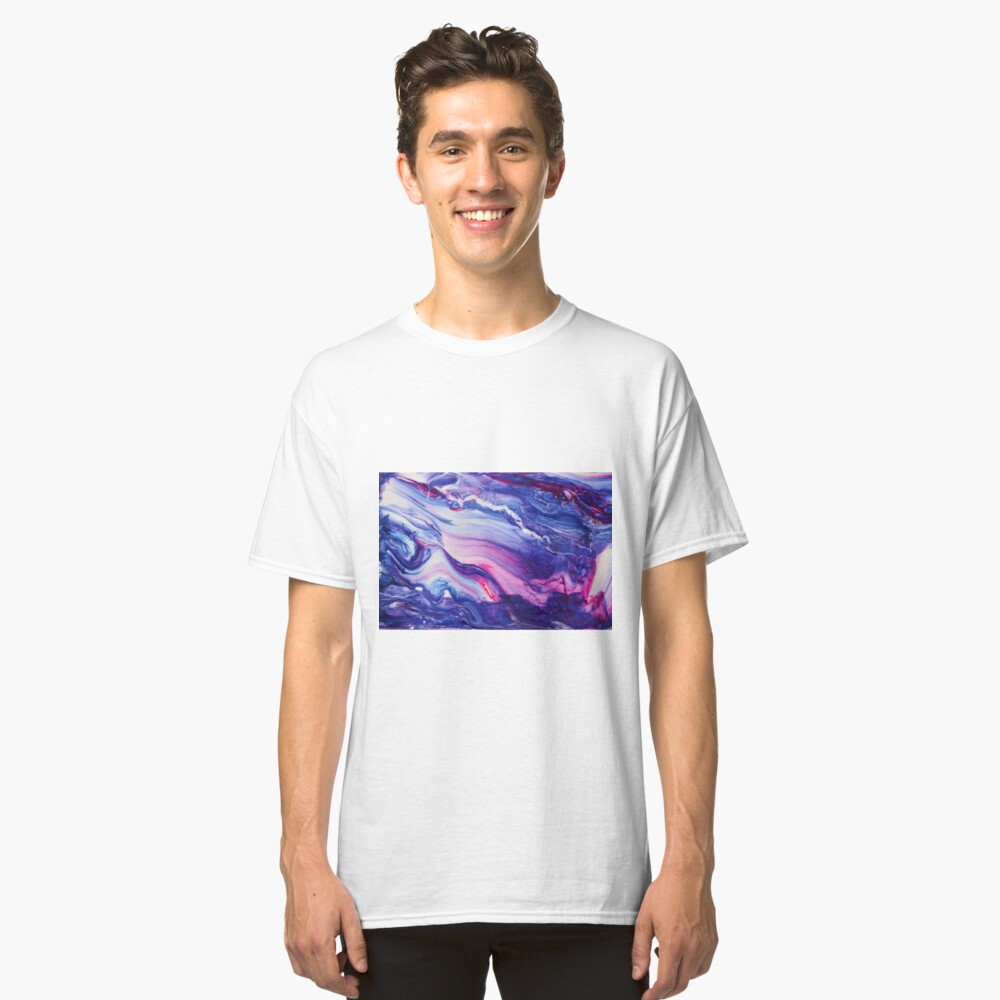 Tranquil Swirls Hybrid Painting Classic T-Shirt