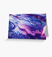 Tranquil Swirls Hybrid Painting Greeting Card