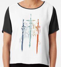 Kirito and Asuna form Sword Art Online Chiffon Top