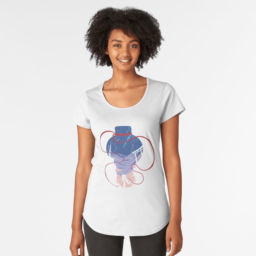 Unmei no akai ito Camiseta premium de cuello ancho