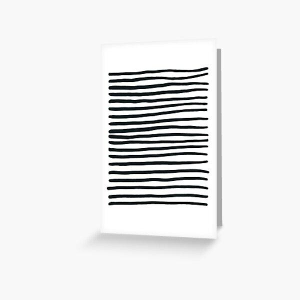 Stripey Black and White Stripes Greeting Card