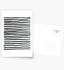 Stripey Black and White Stripes Postcards