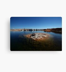 A unique underwater rock in the Lake Powell desert Canvas Print