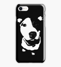 Louie - Black and white pit bull iPhone Case/Skin