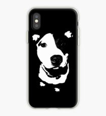 Louie - Black and white pit bull iPhone Case