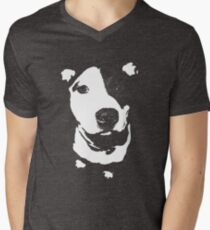 Louie - Black and white pit bull T-Shirt