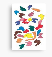 dots of different colors 2 Canvas Print