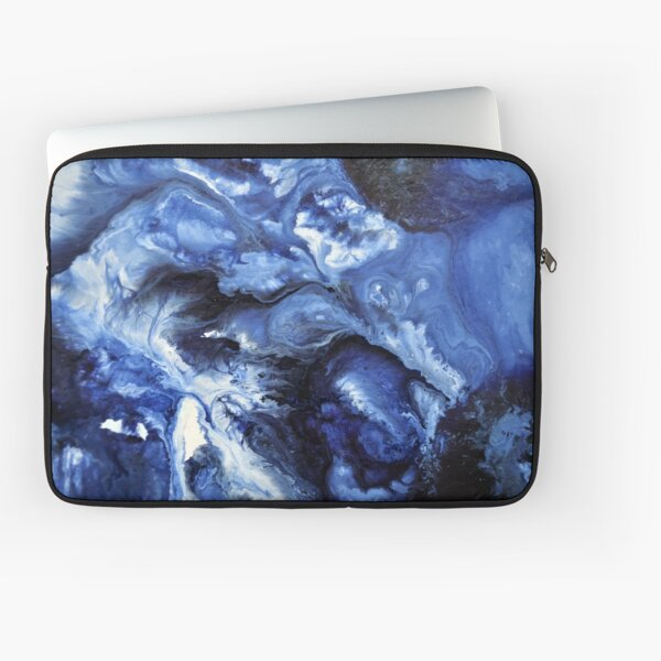 Blue Swirling Waters- Painting Laptop Sleeve