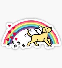 Yellow Labrador Angel Trotting Sticker