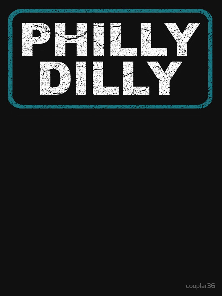 Philly Dilly Shirt with Vintage Worn Distressed Look by cooplar36