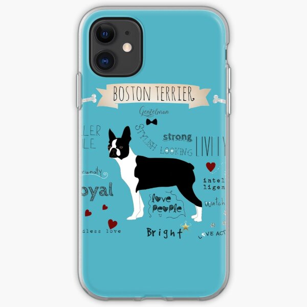 boston terrier iPhone Soft Case