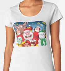 Santa and his team are ready for the great Christmas season! Women's Premium T-Shirt