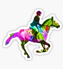 Colorful Horsewoman Sticker