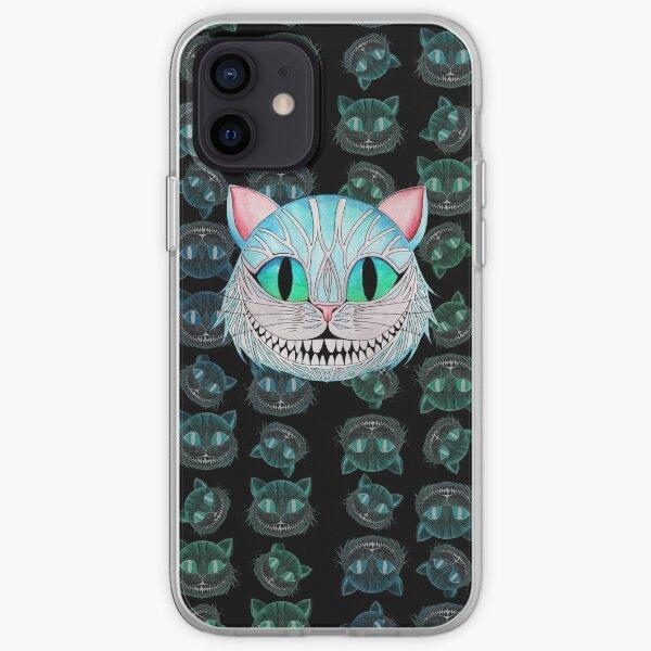Cheshire Cat (Dark background) iPhone Soft Case