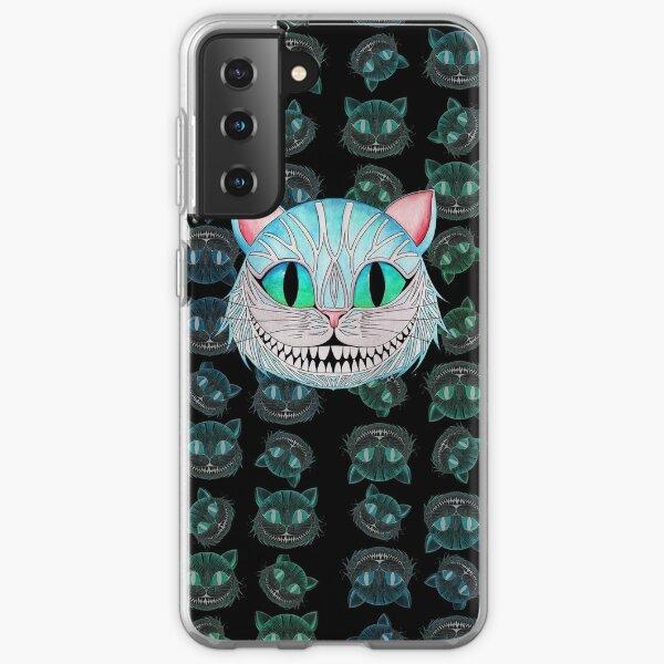 Cheshire Cat (Dark background) Samsung Galaxy Soft Case