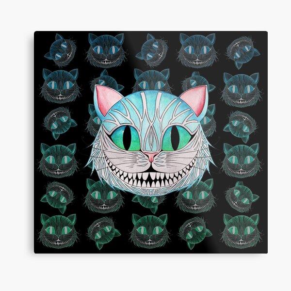 Cheshire Cat (Dark background) Metal Print