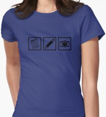 Journalist equipment Womens Fitted T-Shirt
