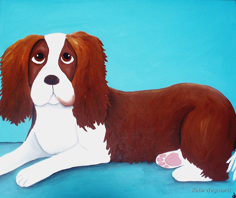 Whiskee the Springer Spaniel by Katie Weychardt