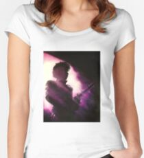 Purple Women's Fitted Scoop T-Shirt