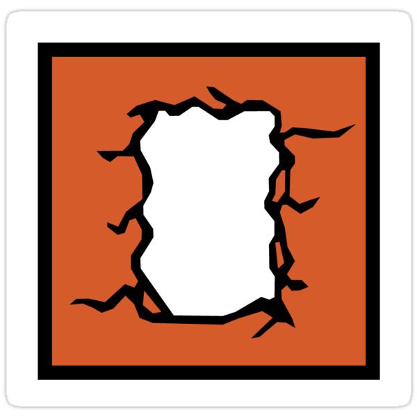 29230968 R6 Thermite Icon on Spiral Border Design