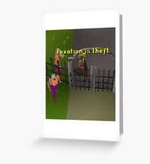 Runescape Taxation is theft Greeting Card