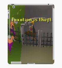 Runescape Taxation is theft iPad Case/Skin
