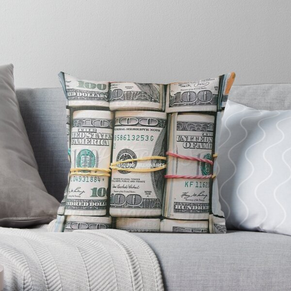 MONEY AND MONEY Throw Pillow