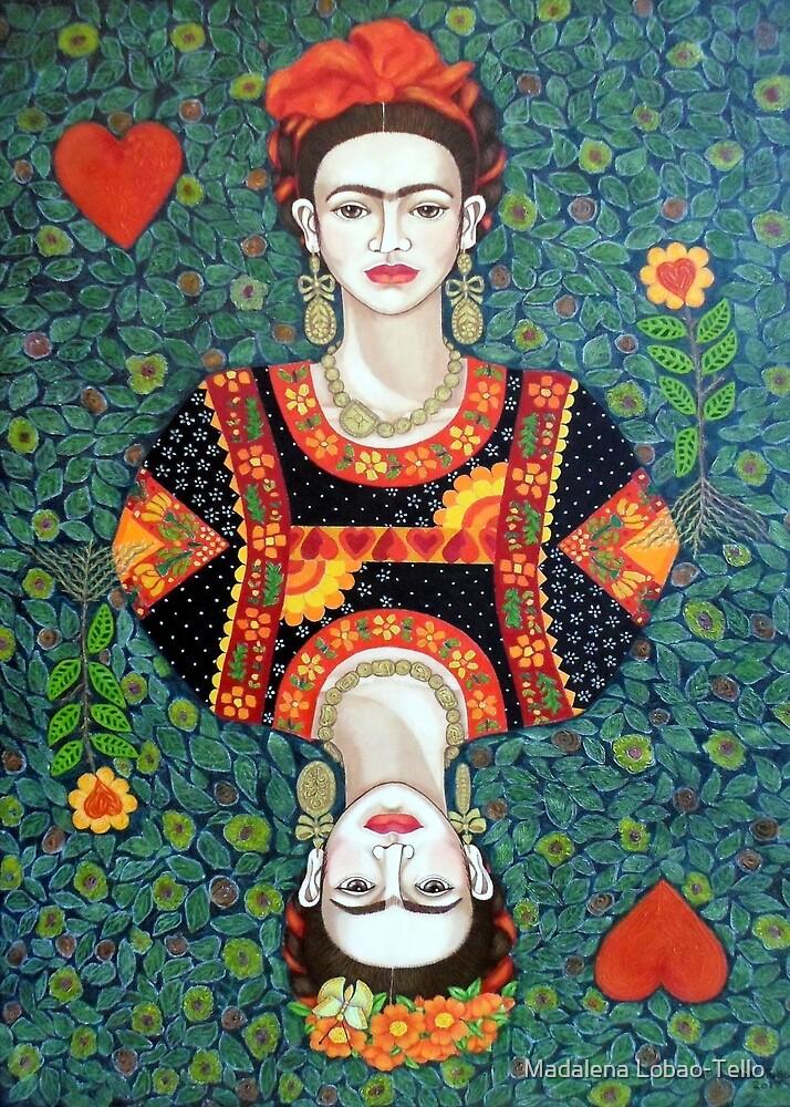 Frida, queen of Hearts by Madalena Lobao-Tello
