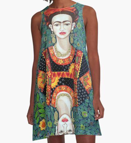 Frida, queen of Hearts A-Line Dress