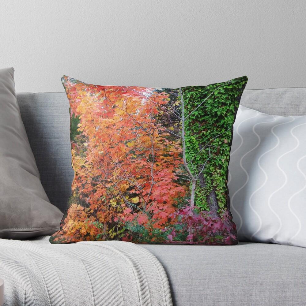 Autumn's Vibrancy Throw Pillow