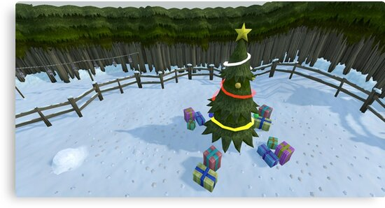 Runescape Christmas Tree Canvas Print By Thomashahaxd Redbubble