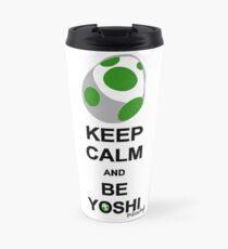 Keep calm and be Yoshi Travel Mug