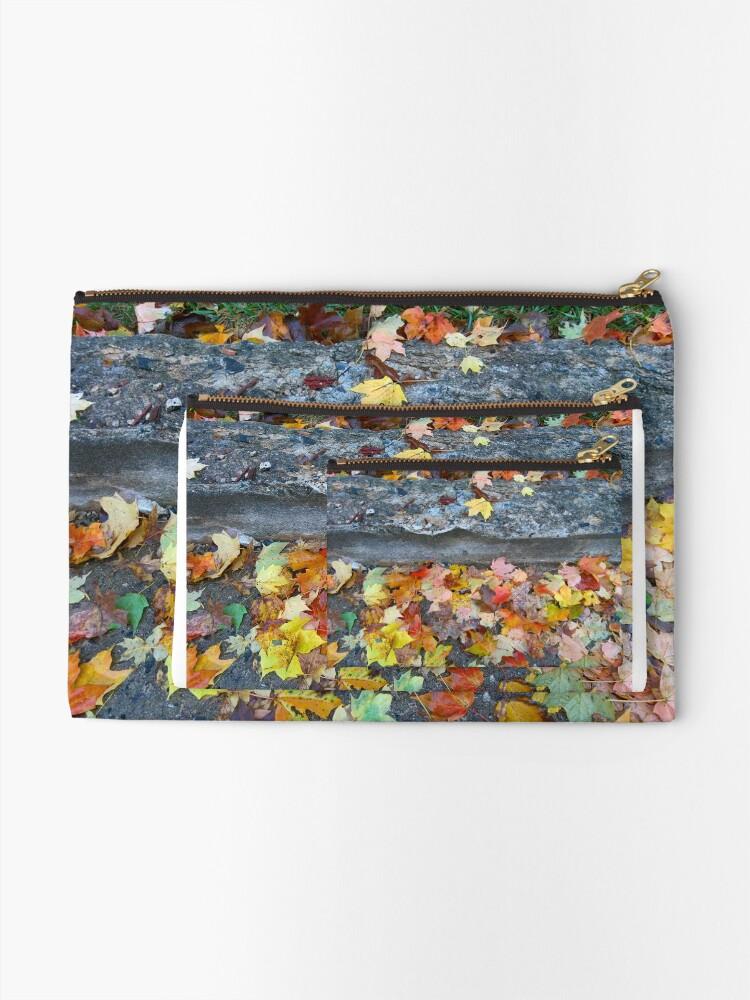 Alternate view of Rainy Autumn Morning Zipper Pouch