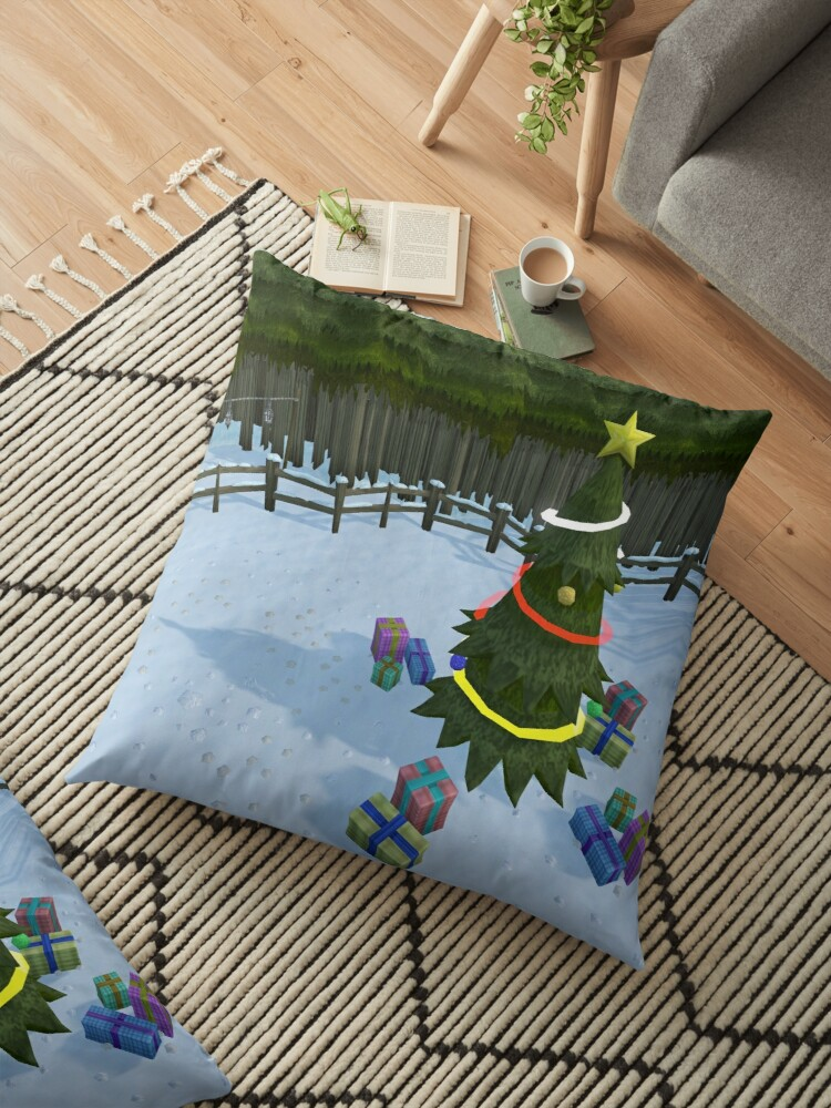 Runescape Christmas Tree Floor Pillows By Thomashahaxd Redbubble