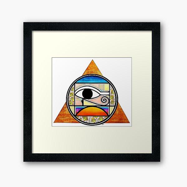 Symbol of Egypt (Colored) Framed Art Print