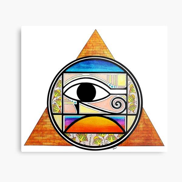 Symbol of Egypt (Colored) Metal Print
