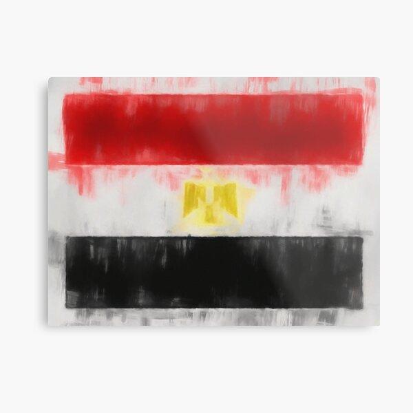Egyptian Flag Reworked No. 66, Series 1 Metal Print