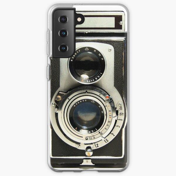 avec l'étui pour appareil photo rétro. Grand cadeau pour tout photographe. Coque souple Samsung Galaxy