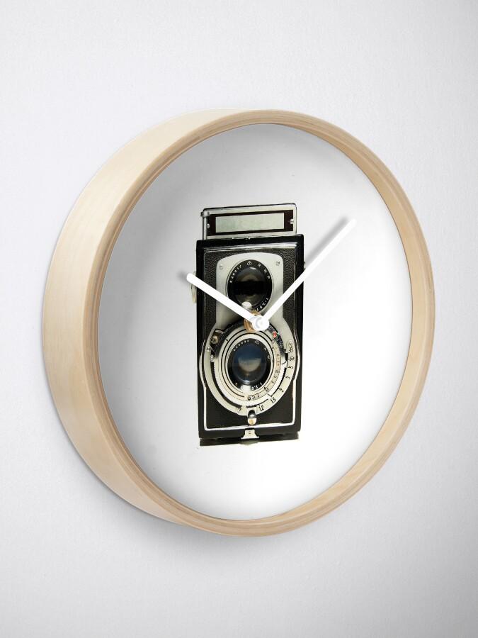 Alternative Ansicht von Retro-Kamera Uhr