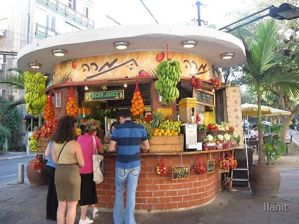 Images of Tel-Aviv: Fruit juice bar by Ilanit