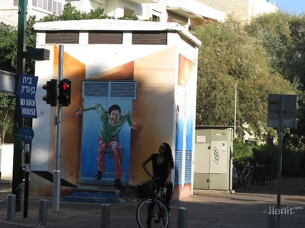 Images of Tel-Aviv: Bicycle-girl's revelation by Ilanit