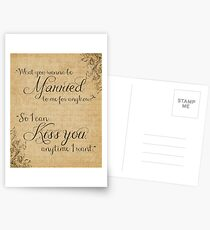 What You Wanna Be Married to Me for Anyhow? v1 Postcards